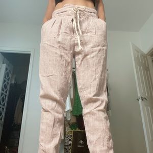 Free People linen stripe pants